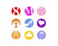 8. März der Tag der internationalen Frauen, Ikone Lizenzfreies Stockbild