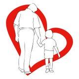 19. März der Vatertag Lizenzfreie Stockbilder