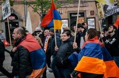 März des armenischen Gemeinschaftsjahrestages des armenischen Genozids Lizenzfreies Stockbild