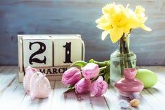21. März erster Tag des Frühlinges Stockfotos