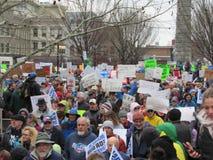 März für unsere Leben in Asheville Stockbilder