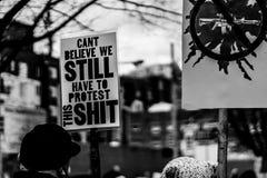 März für unsere Leben Seattle Lizenzfreie Stockfotos
