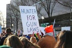 März für unseren Leben-Protest 30, Washington, D C Stockbild