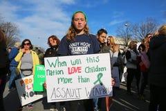 März für unseren Leben-Protest 33, Washington, D C Lizenzfreie Stockbilder