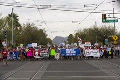 März für unseren Leben-Waffengewalt-Protest organisiert von der Gemeinschaft Stockbild