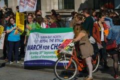 März für Wahl durch die Abtreibung berichtigt Kampagne BOGEN Lizenzfreie Stockfotos