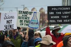 März für Wissenschaft am 22. April 2017 Stockbild