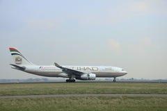 März, 24. 2015, Flughafen A6-EYT Etihad Airw Amsterdams Schiphol Lizenzfreie Stockfotos