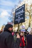 März gegen Trumpfpolitik Stockbild