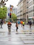 3. März 2015 Harmoniemarathon in Genf switzerland lizenzfreie stockfotos