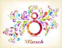 8. März Karte der Frauen Tages Lizenzfreies Stockbild