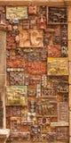 12. März 2017 M Magomayev-Weg, Baku, Aserbaidschan Die Freskos, die die Wände des Hauses des KünstlerBildhauers verzierten Lizenzfreie Stockfotos