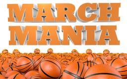 März Mania College Basketball Tournament Lizenzfreies Stockfoto
