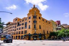 19. März 2019 San Diego/CA/USA - Balboa-Theater im Gaslamp-Viertel in im Stadtzentrum gelegenem San Diego lizenzfreie stockfotografie
