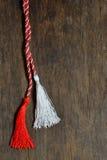 1. März traditionelles Trinket simbol Stockfotografie