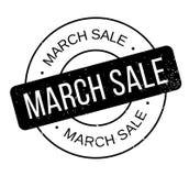 März-Verkaufsstempel Stockfotografie