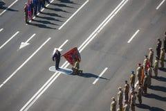 März von Unabhängigkeit in Kiew Stockfotografie