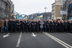 März von Würde in Kyiv Lizenzfreies Stockfoto