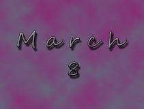 8. März Wunschhintergrund Stockbilder