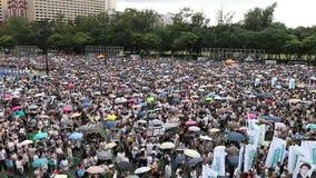 Märze 2014 Hong Kongs am 1. Juli stock footage