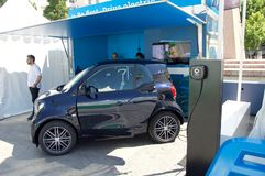 Fair of electric cars and chargers in Colón square