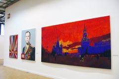Mässa för Art Moscow 2013 internationalkonst royaltyfria foton