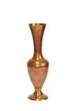 mässing isolerad stämplad vase Arkivbilder