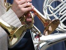 mässingsinstrument royaltyfria foton