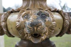 MässingsLionhead Royaltyfri Fotografi