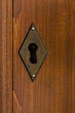 Mässingsnyckelhål Royaltyfri Fotografi