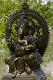 Mässingsstaty av den hinduiska guden Ganesha Den hinduiska guden av vishet, vishet och välstånd av Ganesha Royaltyfria Bilder