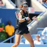 Mästare Ana Ivanovic för storslagen Slam från Serbien under rund match för US Open 2014 först Arkivfoto
