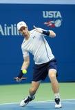 Mästare Andy Murray för storslagen Slam av Storbritannien i handling under match för runda 3 för US Open 2016 Royaltyfria Foton