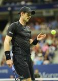 Mästare Andy Murray för storslagen Slam av Storbritannien i handling under match för runda fyra för US Open 2016 Fotografering för Bildbyråer