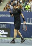 Mästare Andy Murray för storslagen Slam av Storbritannien i handling under match för runda fyra för US Open 2016 Royaltyfria Bilder