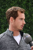 Mästare Andy Murray för storslagen Slam under intervju på US Open 2015 Arkivbilder