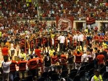 Mästare för Flamengo basketAmericas liga Arkivbilder