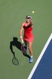 Mästare Samantha Stosur för storslagen Slam av Australien i handling under hennes runda match fyra på US Open 2015 Royaltyfri Fotografi