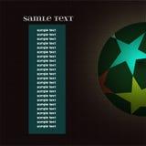Mästareligaboll med brädet för informationstext Arkivfoton