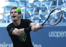 Mästaren Andy Murray för den storslagna slamen av Storbritannien öva för US Open 2016 Fotografering för Bildbyråer