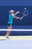 Mästaren Samantha Stosur för den storslagna slamen öva för US Open 2014 Arkivbild