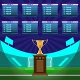 Mästerskap för fotbollstadion stock illustrationer