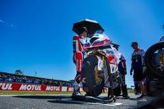 Mästerskap för Superbike för värld för 017 MOTUL-FIM Arkivfoton
