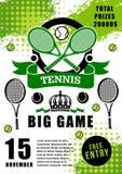 Mästerskap för turnering för tennissport modig stock illustrationer
