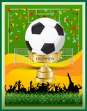 Mästerskap för vinnarefotbollkopp Stock Illustrationer
