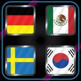 mästerskap Fotboll Grafiska flaggor Gruppen G royaltyfri illustrationer