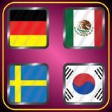 mästerskap Fotboll Grafiska flaggor Gruppen G vektor illustrationer