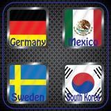 mästerskap Fotboll Grafiska flaggor Gruppen G stock illustrationer