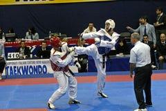 mästerskapgenoa italienare taekwondo Arkivbilder