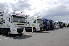 mästerskapsuperbikelastbilar Royaltyfria Bilder